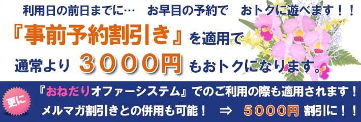 事前予約割り!:高級人妻デリヘル カトレア東京(渋谷・恵比寿・青山高級デリヘル)